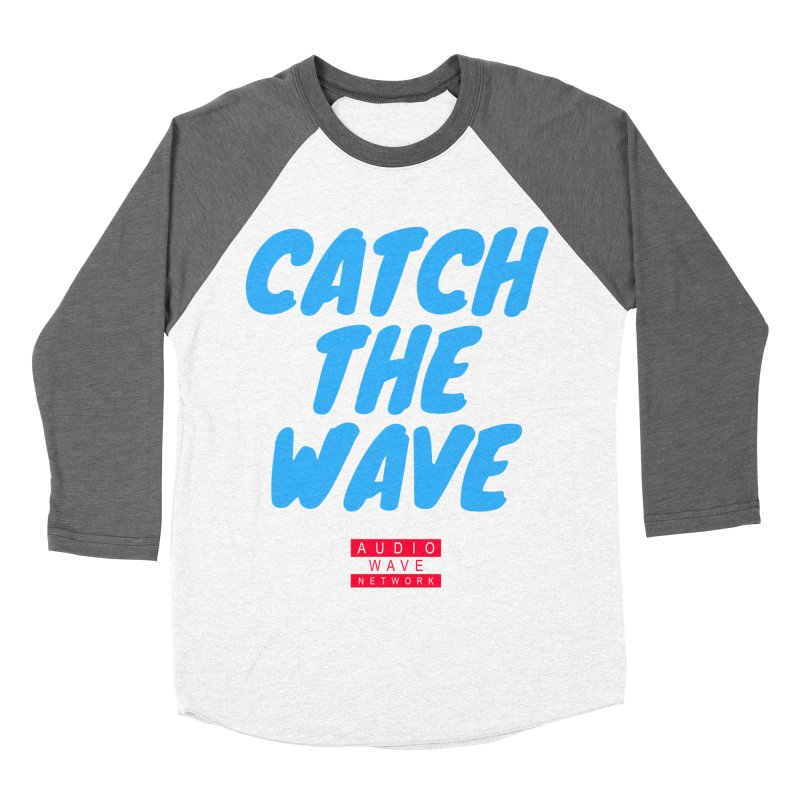 Catch The Wave Men's Baseball Triblend Longsleeve T-Shirt by Audio Wave Network