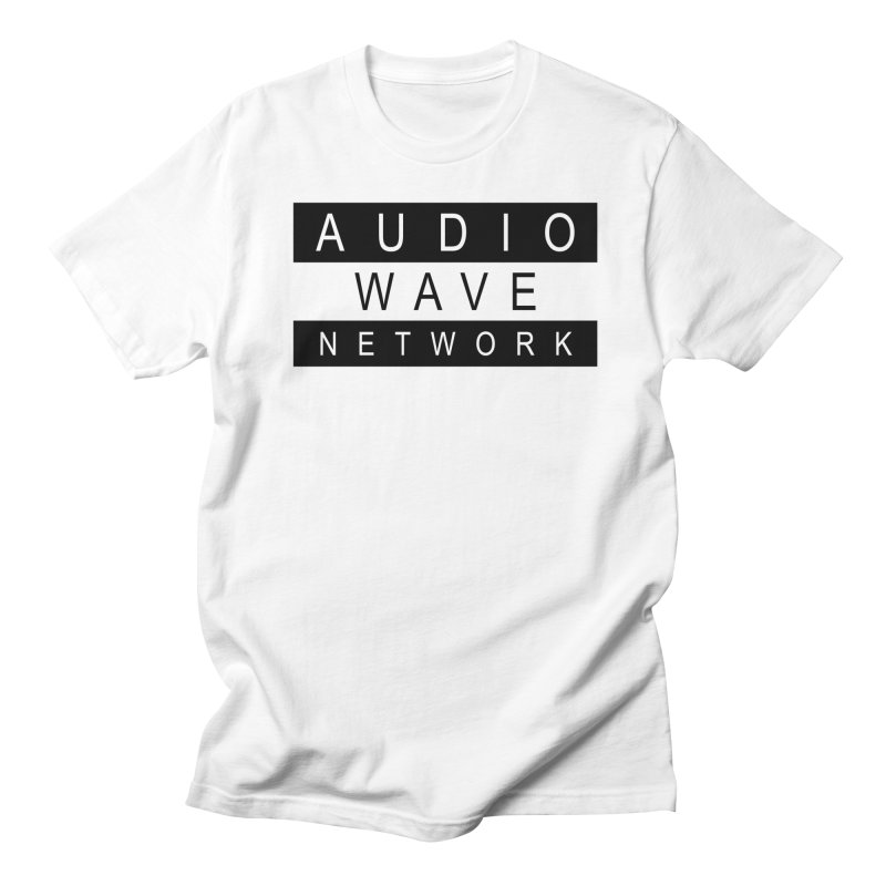 B/W Stamp in Men's Regular T-Shirt White by Audio Wave Network