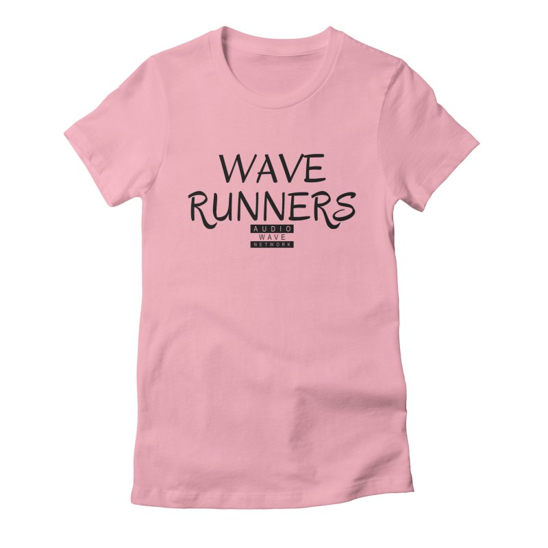 Wave Runners in Women's Fitted T-Shirt Light Pink by Audio Wave Network