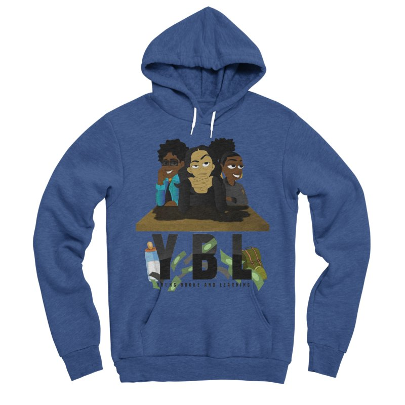 Young, Broke and Learning Men's Sponge Fleece Pullover Hoody by Audio Wave Network