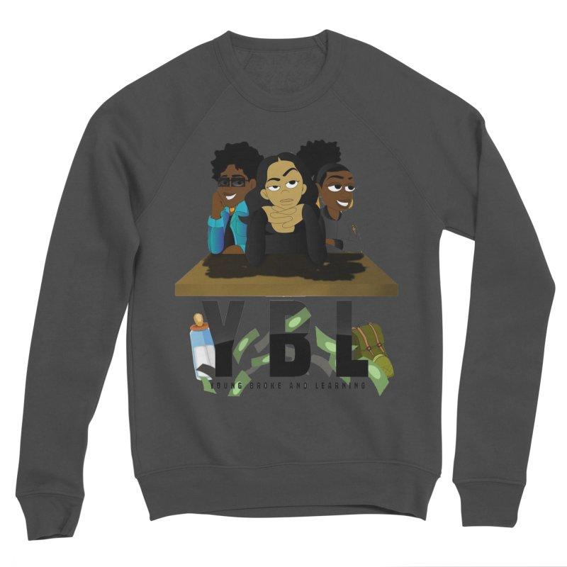 Young, Broke and Learning Men's Sponge Fleece Sweatshirt by Audio Wave Network