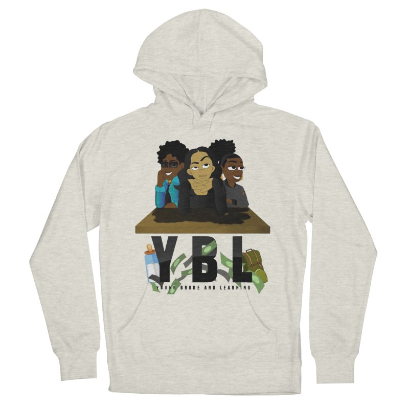 Young, Broke and Learning Men's French Terry Pullover Hoody by Audio Wave Network