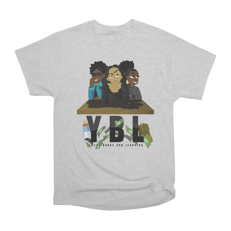 Young, Broke and Learning Men's Heavyweight T-Shirt by Audio Wave Network