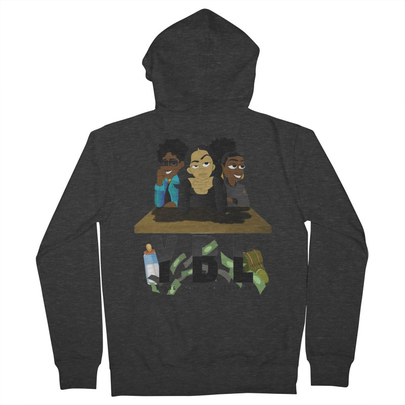 Young, Broke and Learning Men's French Terry Zip-Up Hoody by Audio Wave Network
