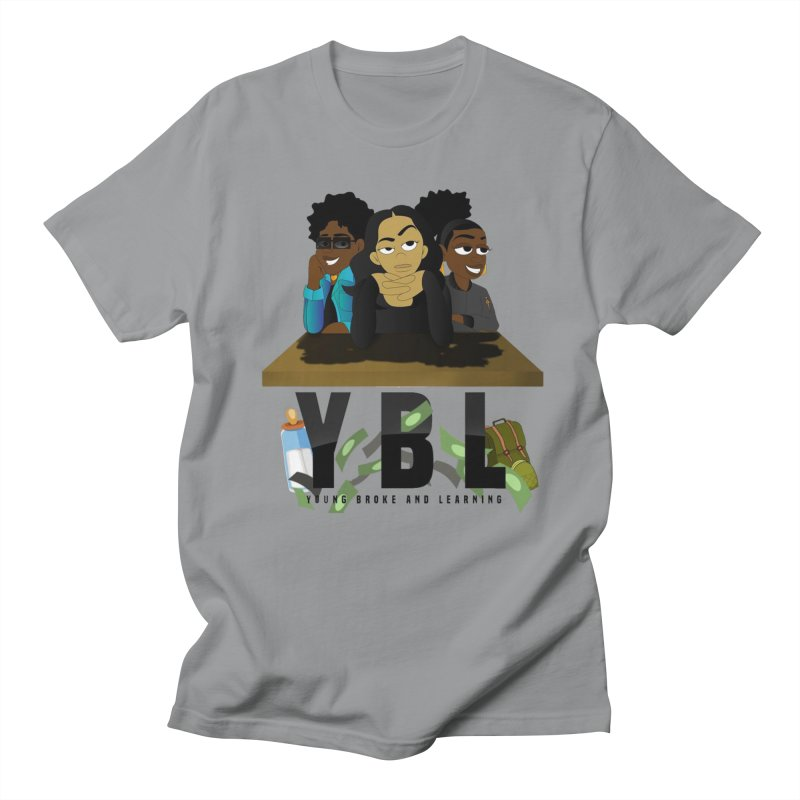 Young, Broke and Learning Men's Regular T-Shirt by Audio Wave Network