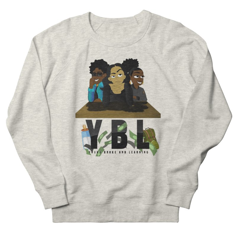 Young, Broke and Learning Men's French Terry Sweatshirt by Audio Wave Network