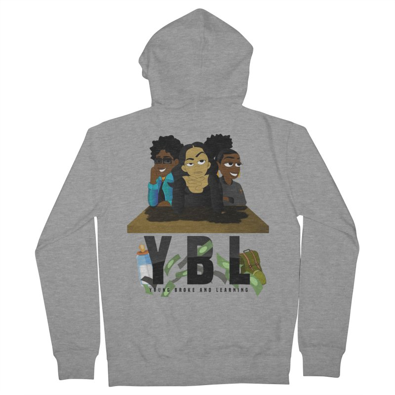 Young, Broke and Learning Women's Zip-Up Hoody by Audio Wave Network