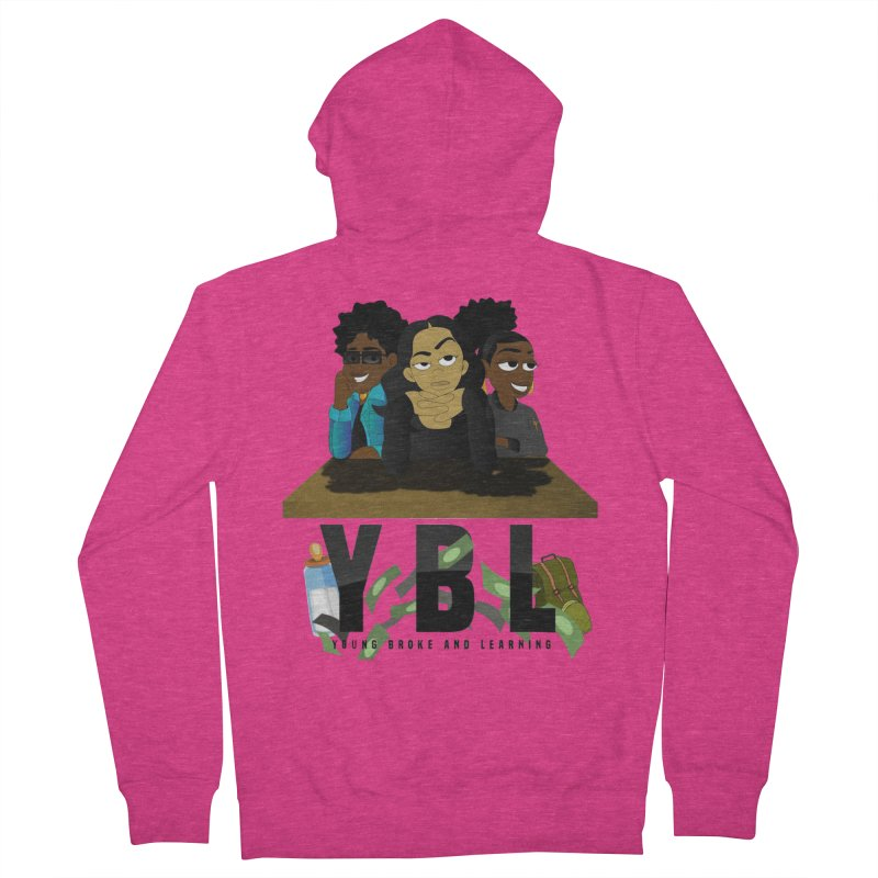 Young, Broke and Learning Women's French Terry Zip-Up Hoody by Audio Wave Network