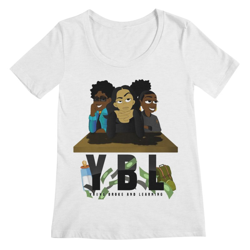 Young, Broke and Learning Women's Regular Scoop Neck by Audio Wave Network