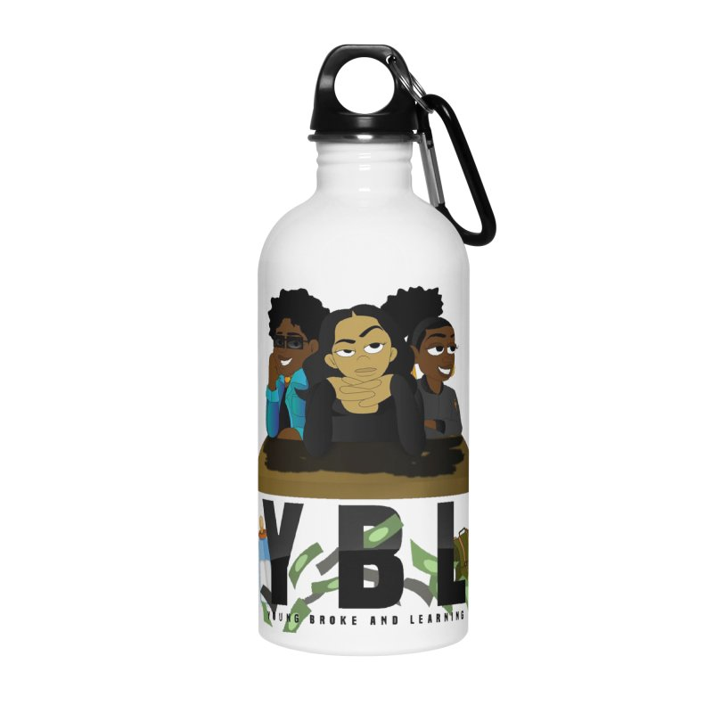 Young, Broke and Learning Accessories Water Bottle by Audio Wave Network