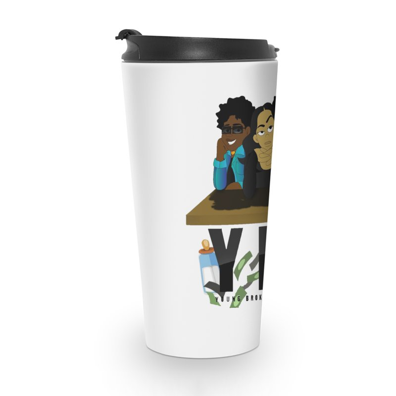 Young, Broke and Learning Accessories Travel Mug by Audio Wave Network