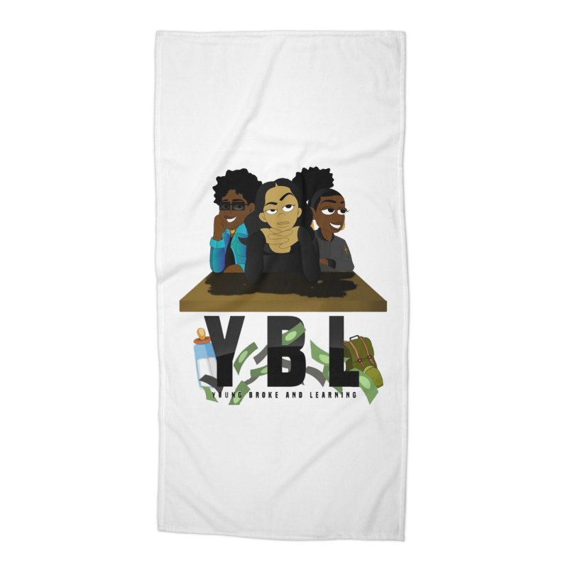 Young, Broke and Learning Accessories Beach Towel by Audio Wave Network