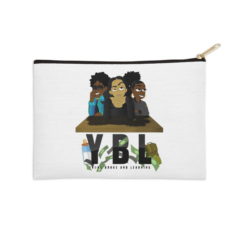 Young, Broke and Learning Accessories Zip Pouch by Audio Wave Network