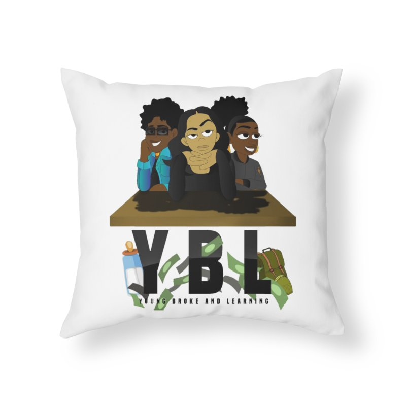 Young, Broke and Learning Home Throw Pillow by Audio Wave Network