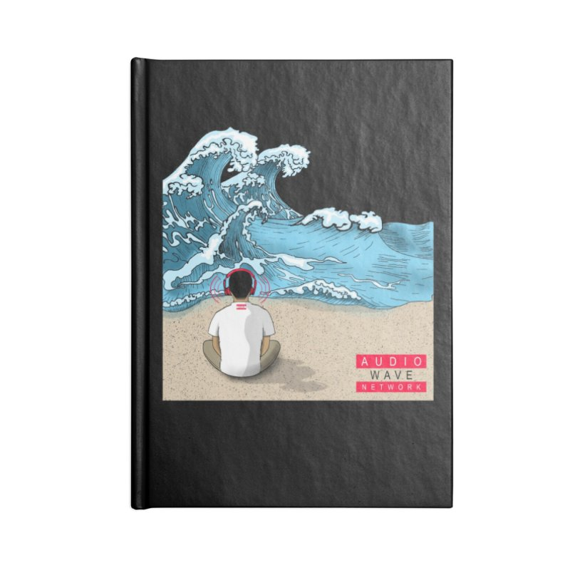 Logo Vibes Accessories Lined Journal Notebook by Audio Wave Network