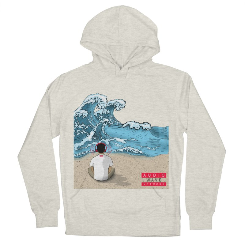 Logo Vibes Men's French Terry Pullover Hoody by Audio Wave Network