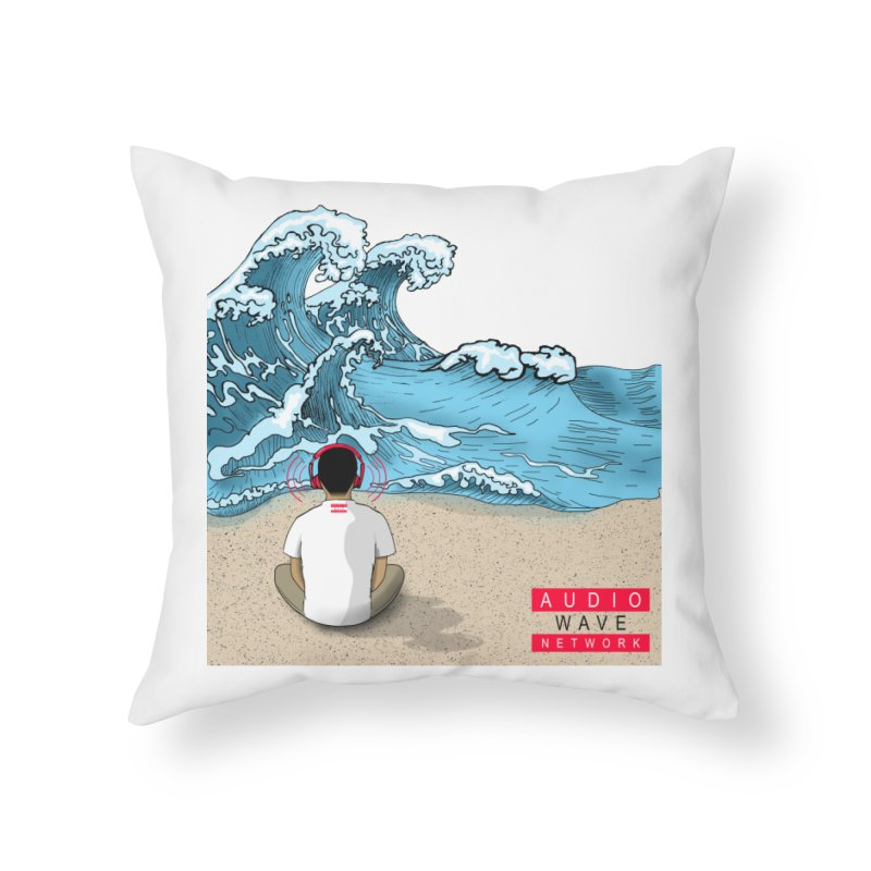 Logo Vibes Home Throw Pillow by Audio Wave Network