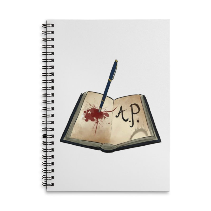 AP Logo ( Designed by Unapologetic Artist) Accessories Lined Spiral Notebook by Augie's Attic