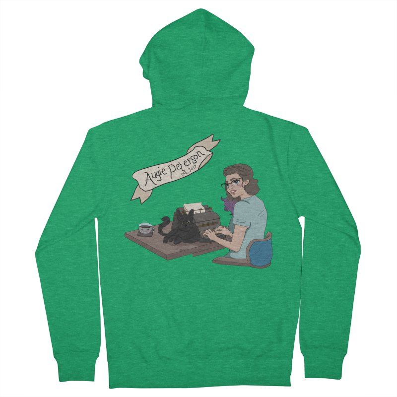 Cats and Typewriters (Desgined by Lenedoesnotpop) Men's Zip-Up Hoody by Augie's Attic