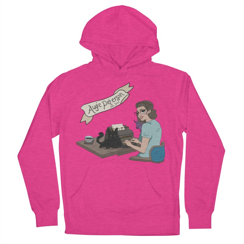 Cats and Typewriters (Desgined by Lenedoesnotpop) Women's French Terry Pullover Hoody by Augie's Attic