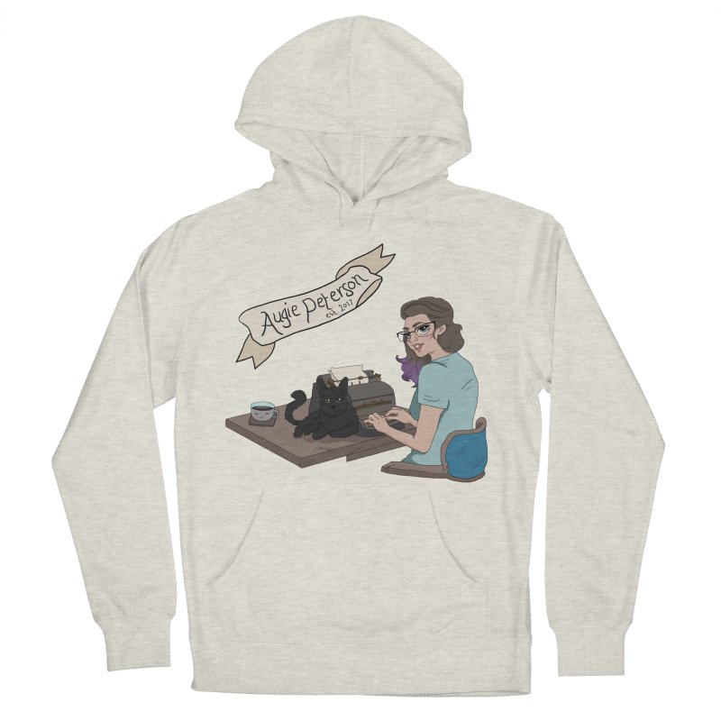 Cats and Typewriters (Desgined by Lenedoesnotpop) Men's French Terry Pullover Hoody by Augie's Attic