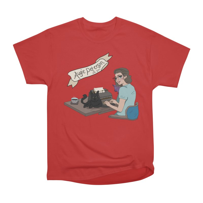 Cats and Typewriters (Desgined by Lenedoesnotpop) Men's Heavyweight T-Shirt by Augie's Attic