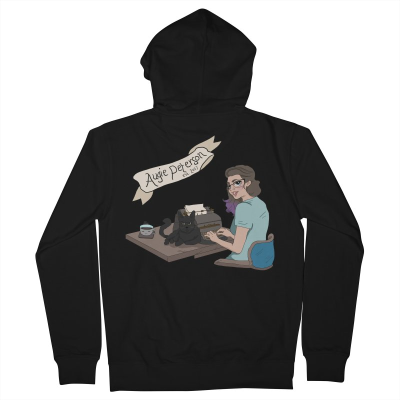 Cats and Typewriters (Desgined by Lenedoesnotpop) Women's French Terry Zip-Up Hoody by Augie's Attic
