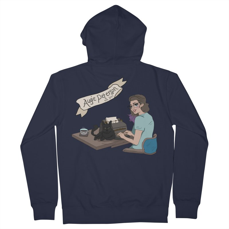 Cats and Typewriters (Desgined by Lenedoesnotpop) Men's French Terry Zip-Up Hoody by Augie's Attic