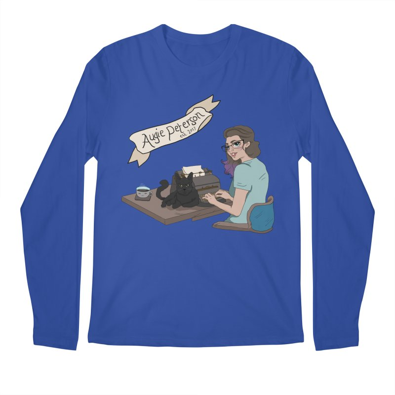Cats and Typewriters (Desgined by Lenedoesnotpop) Men's Regular Longsleeve T-Shirt by Augie's Attic