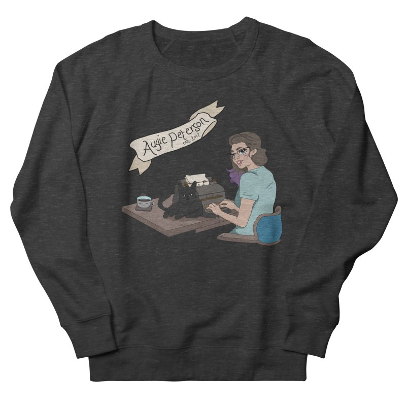 Cats and Typewriters (Desgined by Lenedoesnotpop) Men's French Terry Sweatshirt by Augie's Attic