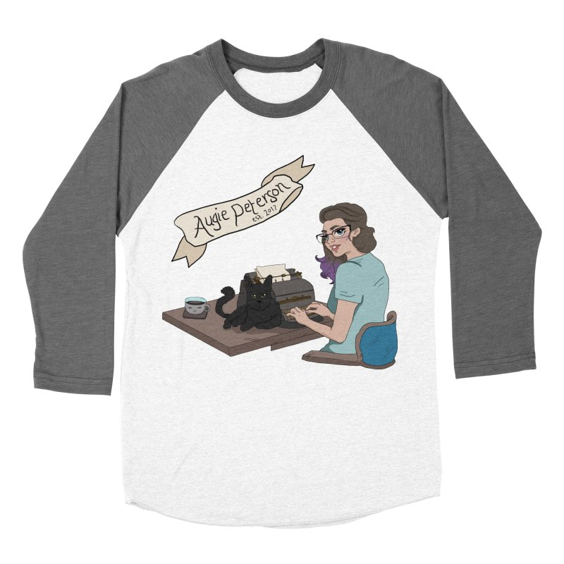 Cats and Typewriters (Desgined by Lenedoesnotpop) Women's Baseball Triblend Longsleeve T-Shirt by Augie's Attic