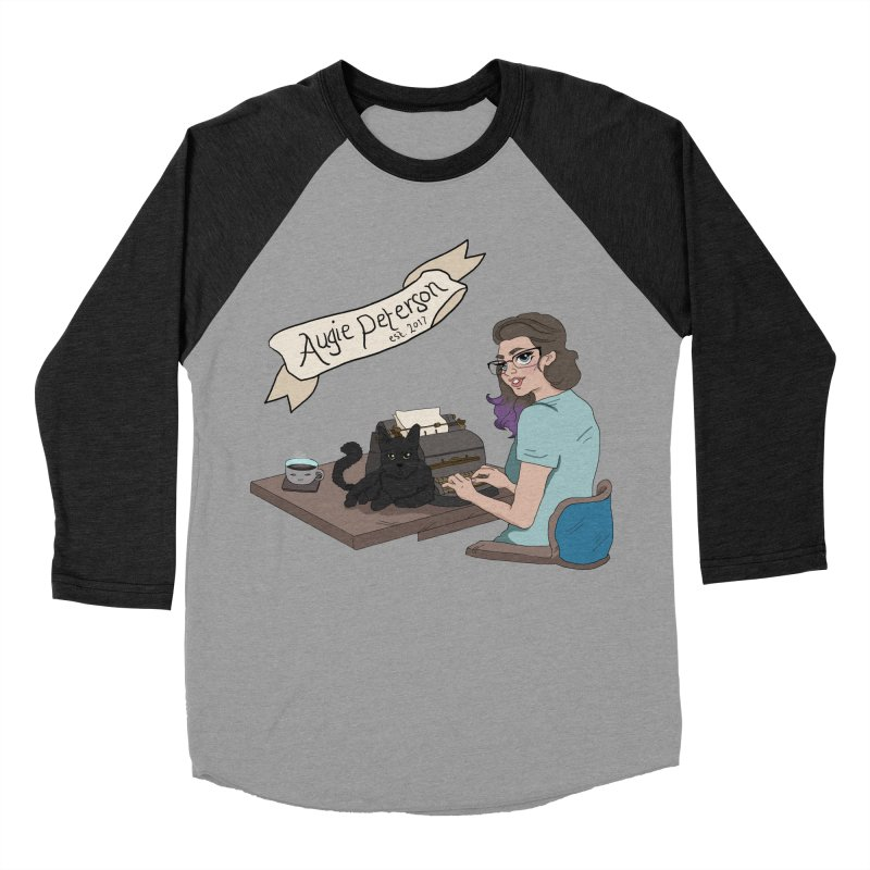 Cats and Typewriters (Desgined by Lenedoesnotpop) Men's Baseball Triblend Longsleeve T-Shirt by Augie's Attic