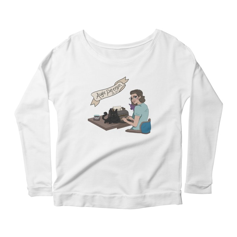 Cats and Typewriters (Desgined by Lenedoesnotpop) Women's Scoop Neck Longsleeve T-Shirt by Augie's Attic