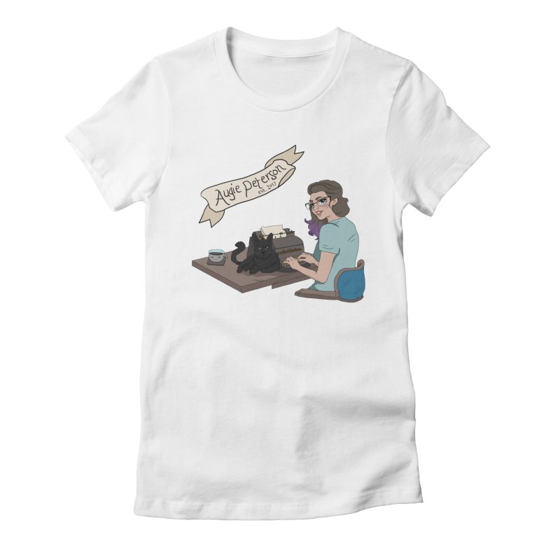 Cats and Typewriters (Desgined by Lenedoesnotpop) Women's Fitted T-Shirt by Augie's Attic
