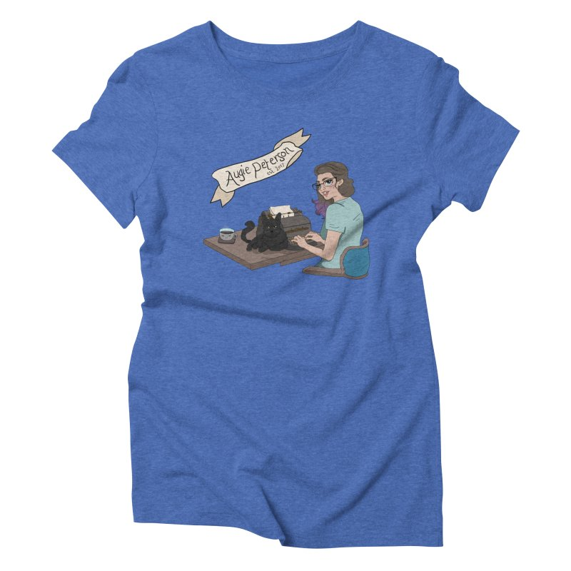 Cats and Typewriters (Desgined by Lenedoesnotpop) Women's Triblend T-Shirt by Augie's Attic