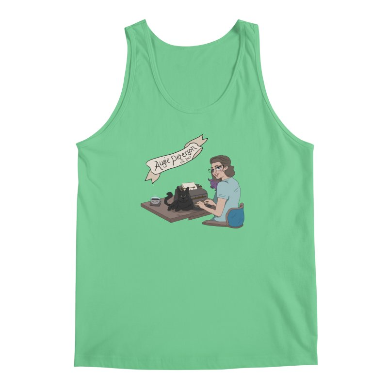 Cats and Typewriters (Desgined by Lenedoesnotpop) Men's Regular Tank by Augie's Attic