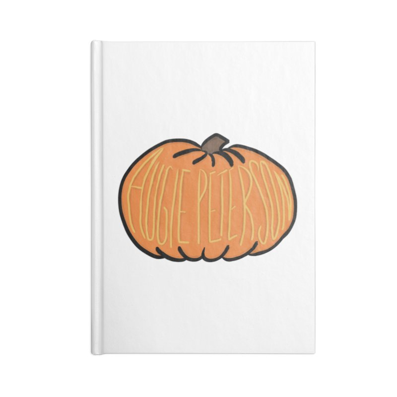 Augie Peterson Pumpkin Accessories Lined Journal Notebook by Augie's Attic