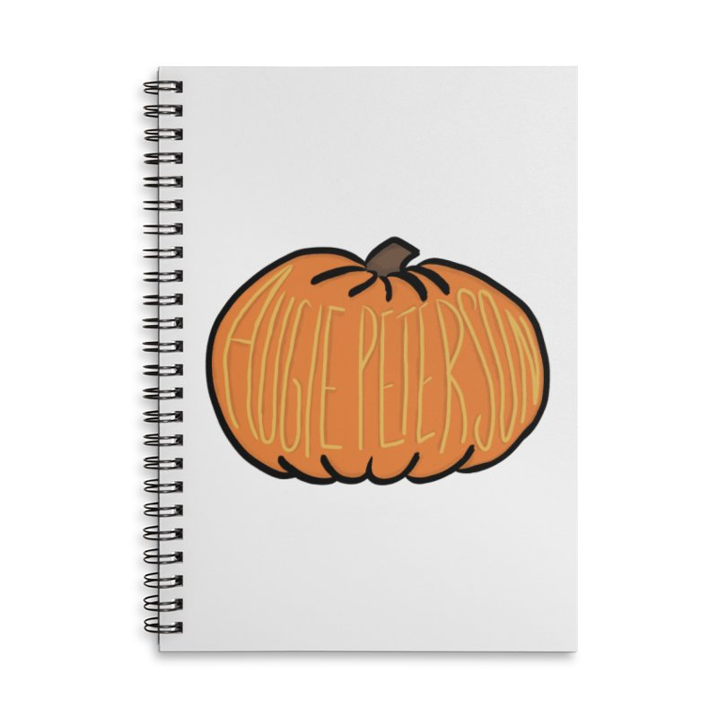 Augie Peterson Pumpkin Accessories Lined Spiral Notebook by Augie's Attic