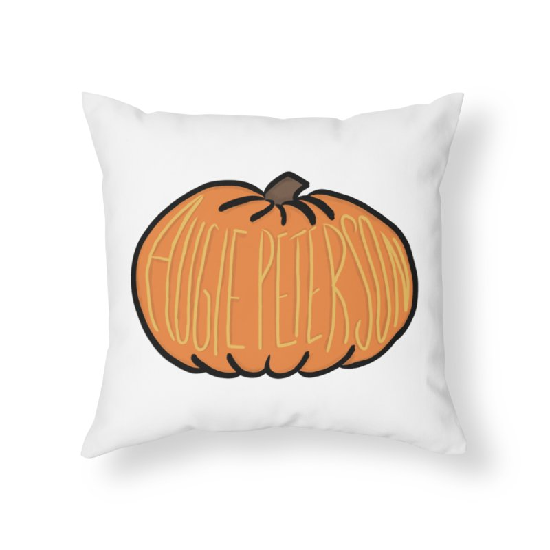 Augie Peterson Pumpkin Home Throw Pillow by Augie's Attic