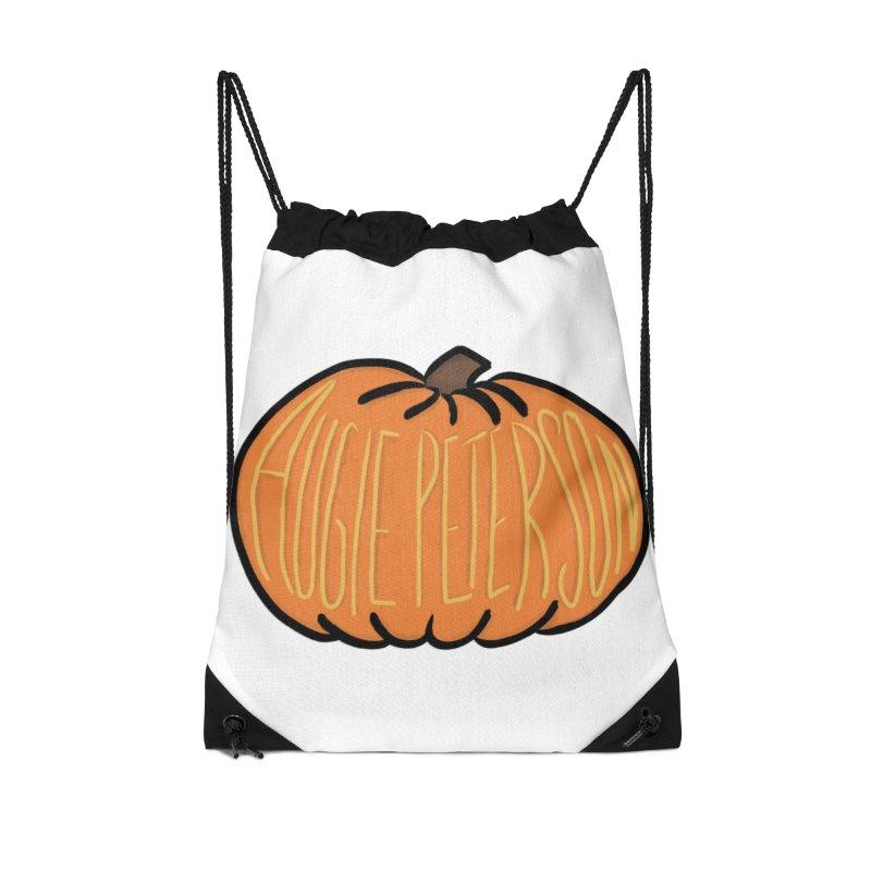 Augie Peterson Pumpkin Accessories Drawstring Bag Bag by Augie's Attic