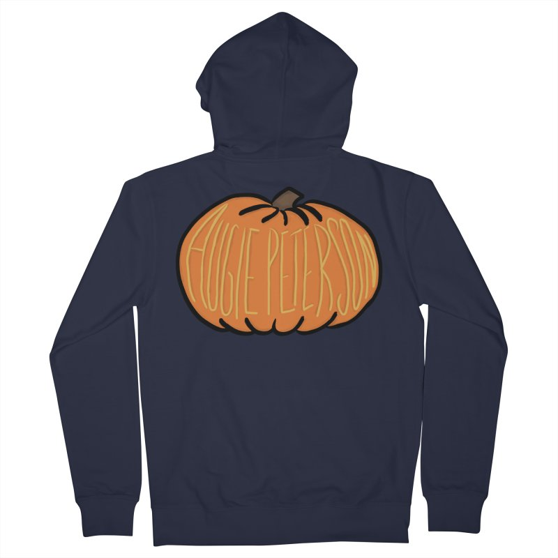 Augie Peterson Pumpkin Men's French Terry Zip-Up Hoody by Augie's Attic
