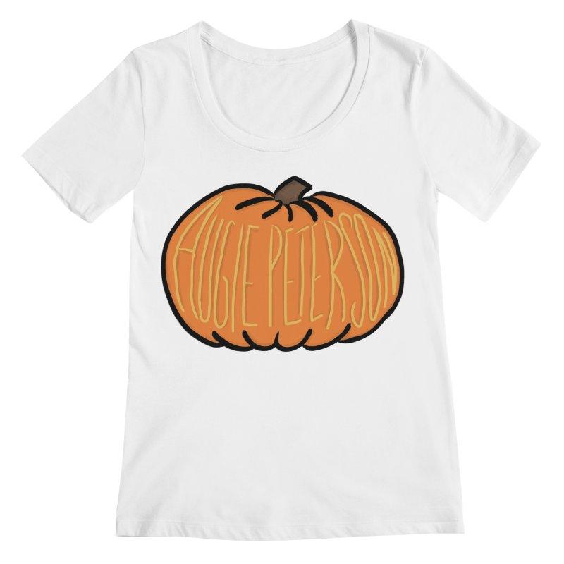 Augie Peterson Pumpkin Women's Regular Scoop Neck by Augie's Attic