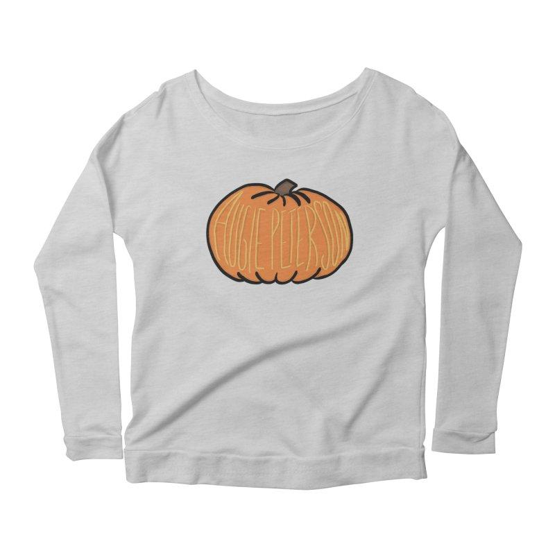 Augie Peterson Pumpkin Women's Scoop Neck Longsleeve T-Shirt by Augie's Attic