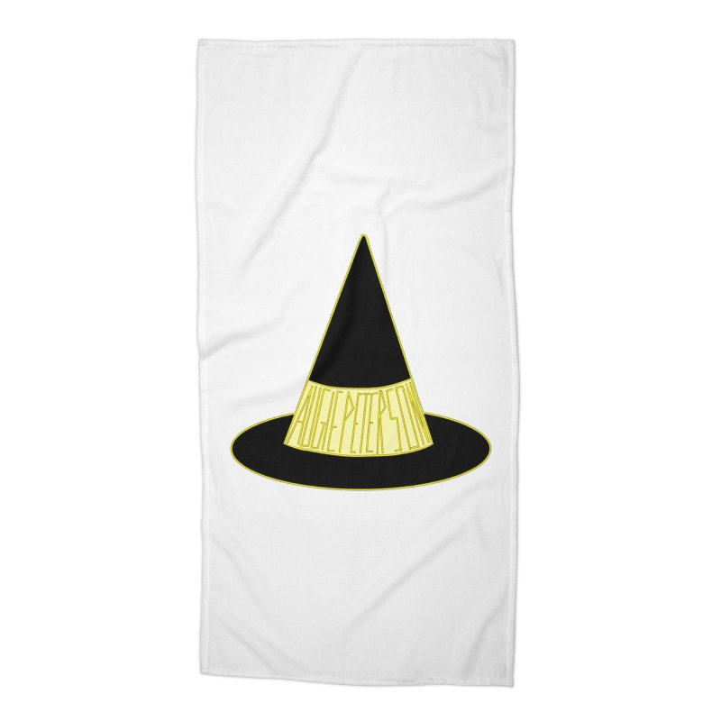 Augie Peterson Witch Hat Accessories Beach Towel by Augie's Attic