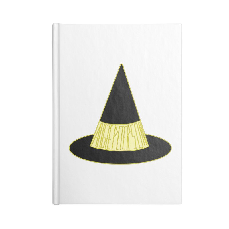Augie Peterson Witch Hat Accessories Lined Journal Notebook by Augie's Attic