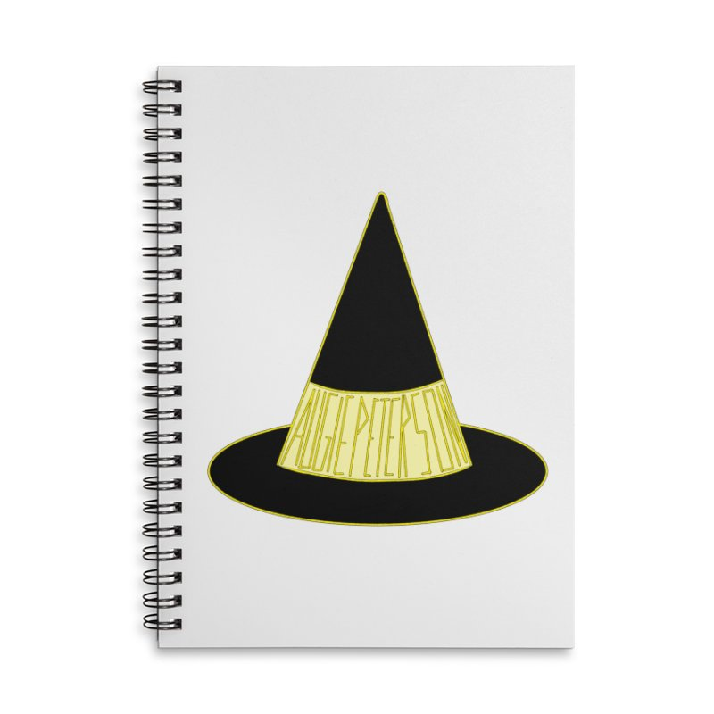 Augie Peterson Witch Hat Accessories Lined Spiral Notebook by Augie's Attic