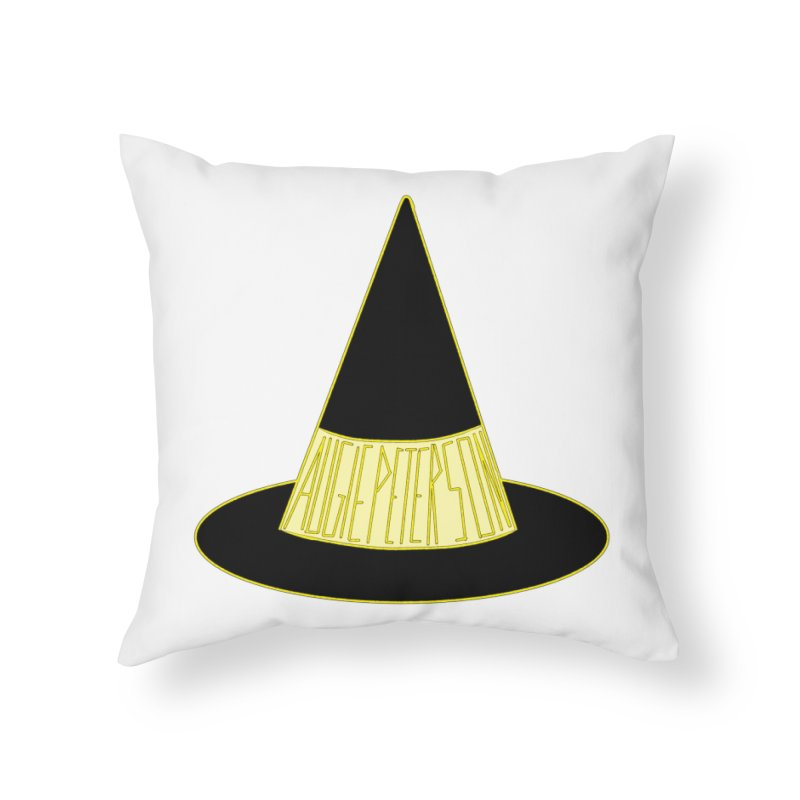 Augie Peterson Witch Hat Home Throw Pillow by Augie's Attic