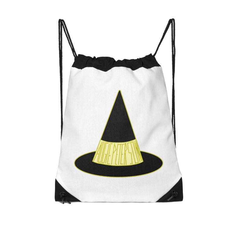 Augie Peterson Witch Hat Accessories Drawstring Bag Bag by Augie's Attic