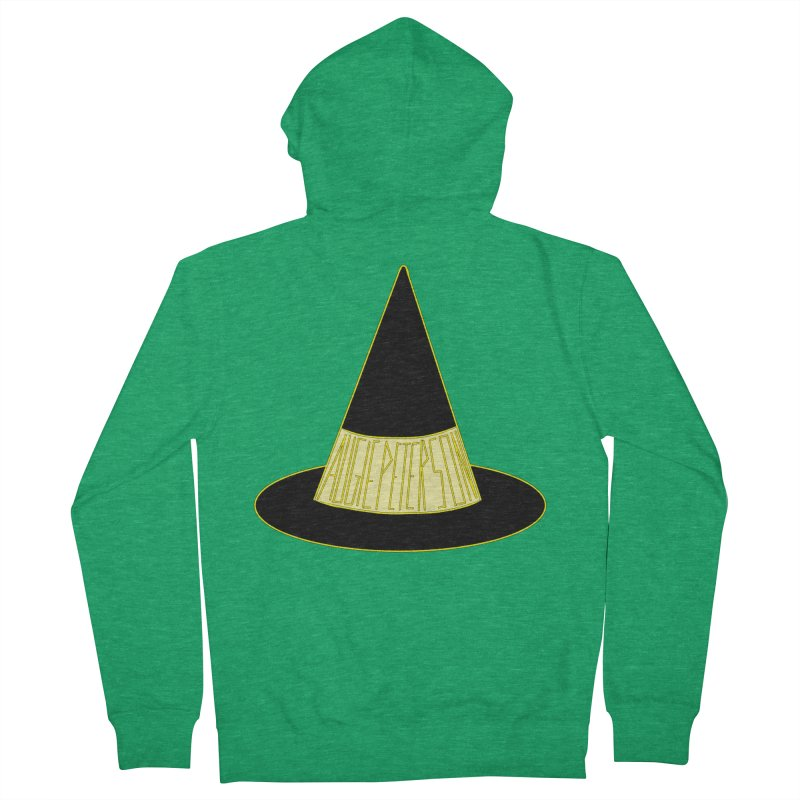 Augie Peterson Witch Hat Men's French Terry Zip-Up Hoody by Augie's Attic
