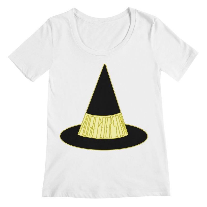 Augie Peterson Witch Hat Women's Regular Scoop Neck by Augie's Attic